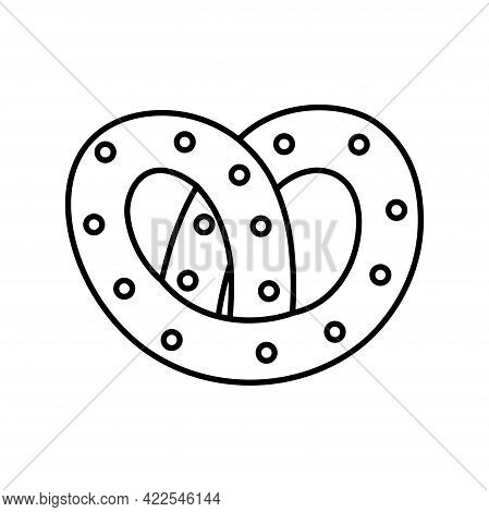 Isolated Pretzel Icon Fast Food Vector Illustration
