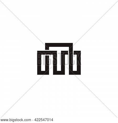 Letter Mn Overlapping Line Infinity Design Logo Vector