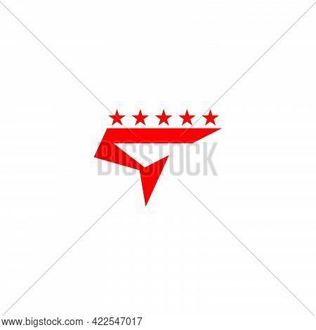 Letter Q Motion Star Geometric Simple Logo Vector