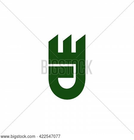 Vector Of Abstract Letter Jw Geometric Symbol Vector