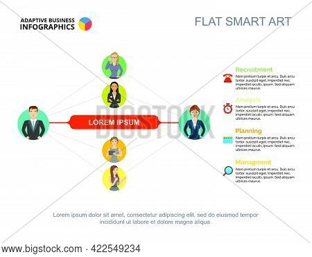 Business Relationship Slide Template. Chart, Design. Creative Concept For Infographic, Report. Can B