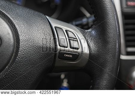 Novosibirsk, Russia - May 29, 2021: Subaru Forester, Vehicle Interior Of A Modern Car With Voice Con