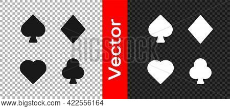 Black Deck Of Playing Cards Icon Isolated On Transparent Background. Casino Gambling. Vector