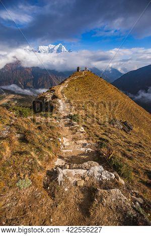 Way To Edmund Hillary Monument Near Namche Bazar Village, Nepal