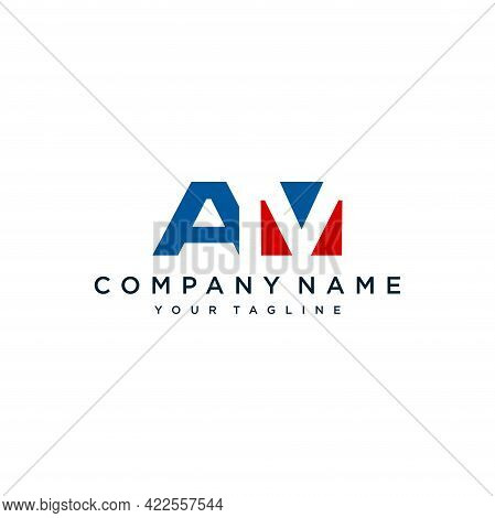 Initial Letter Am Logo Design Template Vector