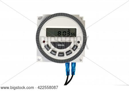 Time Relay C Lcd Display Isolated On White Background