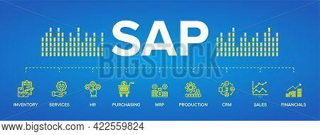 Sap Enterprise Resource Planning (erp) Construction Concept Module Vector Icons