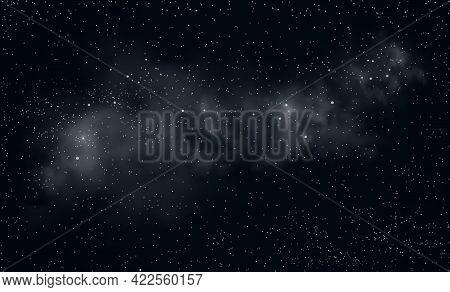 Space Background. Shining Stars And Nebula. Night Starry Sky. Star Nebula.