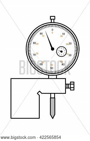 Indicator Depth Gauge. Measuring Tool And Instrument For High-precision Measurements For Industry  A