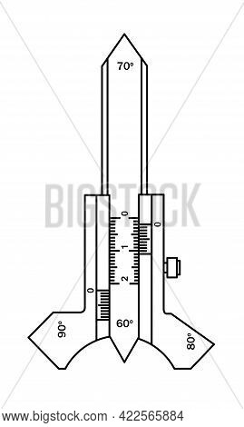 Usherov-marshak Template. Measuring Tool And Instrument For High-precision Measurements For Industry