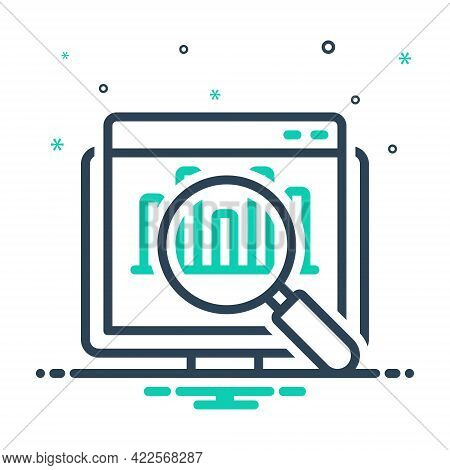 Mix Icon For Seo-audit Seo Audit Website Data Digital Analysis Chart Magnifier Statistics Research M