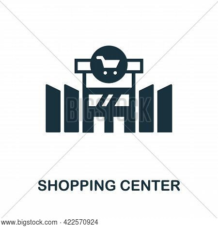 Shopping Center Icon. Monochrome Simple Element From Mall Collection. Creative Shopping Center Icon