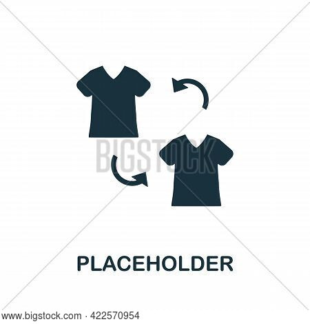 Placeholder Icon. Monochrome Simple Element From Mall Collection. Creative Placeholder Icon For Web
