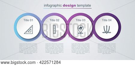 Set Line Triangular Ruler, Ruler, Square Root Of X Glyph And Graph, Schedule, Chart, Diagram. Busine