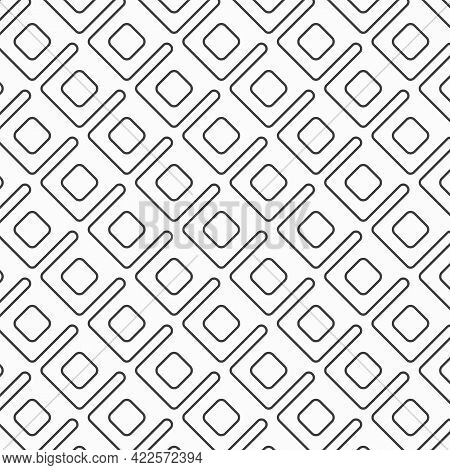 Geometric Vector Pattern For Fictitious Embroidery Designs, Repeating With Linear And Square. Graphi