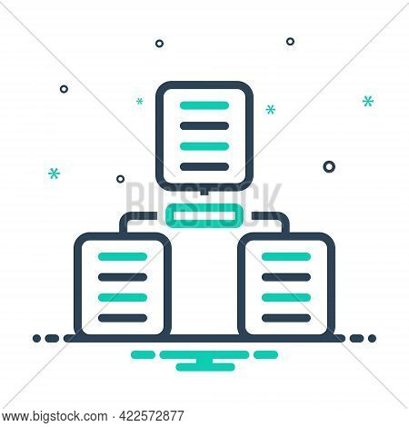Mix Icon For Sharing-archives Sharing Archives Folder Data Database Document Interface Server Techno