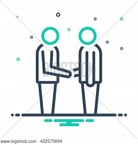Mix Icon For Your-welcome Your Welcome Handshake Person Friends Meeting