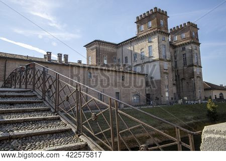 Robecco Sul Naviglio ( Mi ), Italy - April 01, 2021: Robecco Sul Naviglio Town And Naviglio Grande P