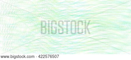 Light Green Thin Wavy Lines. Tangled Squiggle Curves. Abstract Vector Background. Textured Pattern.