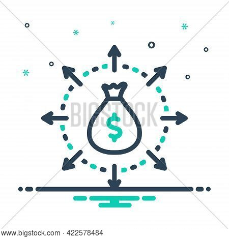 Mix Icon For Budget-spending Budget Spending Wage Wealth Share Saving Balance Cash Investment Manage