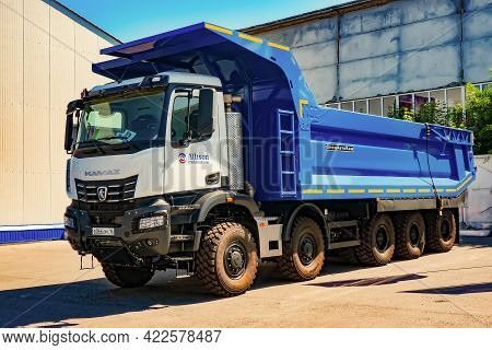 Novokuznetsk,russia-02.06.2021, Kamaz-65805 Mining Dump Truck Of The Samson Line.
