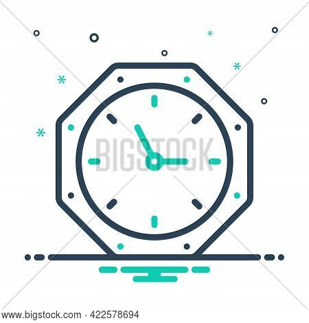 Mix Icon For Timing Clock Adjust Limit  Hour Quick Time Device Time-is-running Reminder Schedule Cou