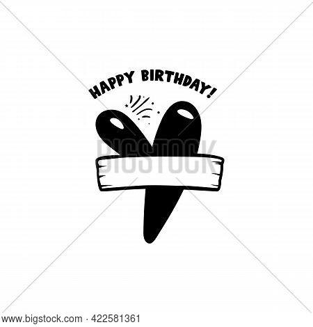 Initial Birthday Y Letter. Happy Birthday Monogram Design With Balloons. Alphabet Y Template. Stock