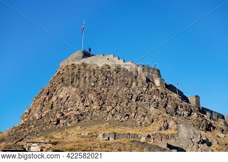 Main Building & Heart Of Kars Castle - Its Citadel. It Was Founded In 1153 On Almost Unassailable Ro