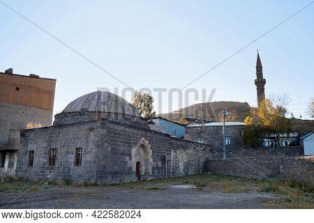 Ancient Bath House, Called Mazlum Aga Hammam, Kars, Turkey. It's Built In 18 Century In Typical Osma