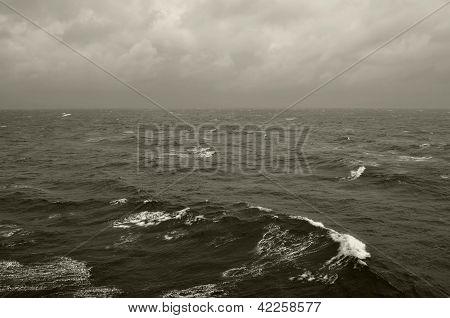 Winter Waves Deep Sea