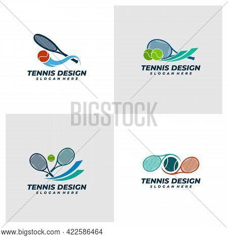 Set Of Tennis Logo Vector Template, Creative Tennis Logo Design Concepts