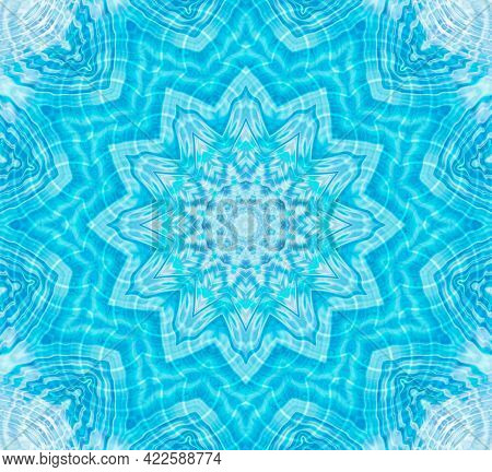 Bright Blue And White Background With Abstract Pattern