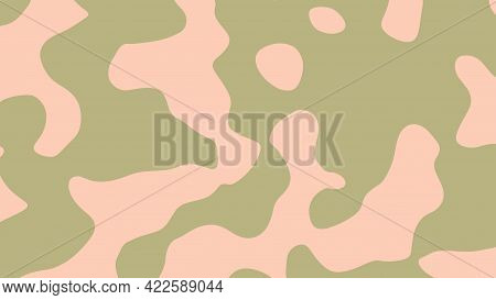 Abstract Color Background With Fluid Shapes, Vector Illustration.