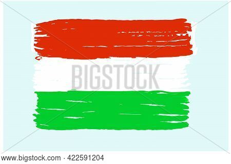 Hungary National Flag Isolated On A White Background. Vector Illustration