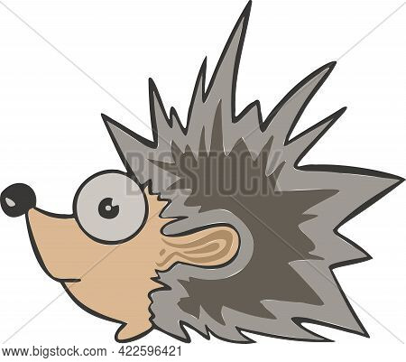 Design Adorable Hedgehog. Small Icon For Stock. High Quality Illustration