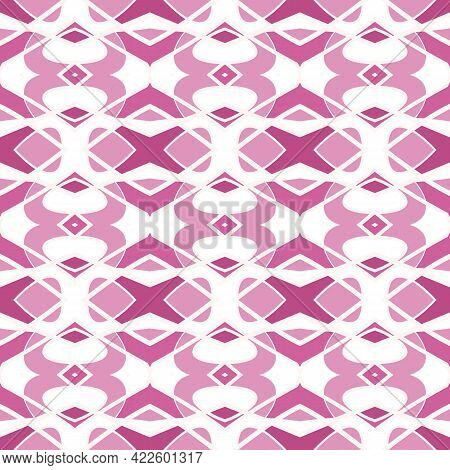 Seamless Pattern With Arabesques In Retro Style. Vector Illustration.