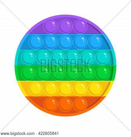 Colorful Round Fidget Antistress Sensory Toy For Kids. Fidget Sensory Pop It And Simple Dimple Trend