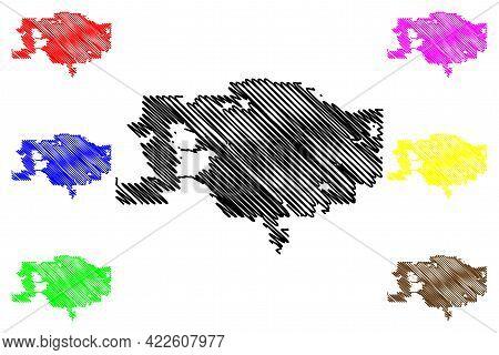 Visalia City, California (united States Cities, United States Of America, Usa City) Map Vector Illus