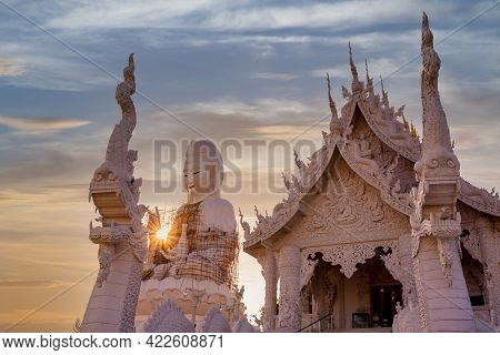 Huai Pla Kung Temple Is A Temple With Thai-chinese Buildings, Chiang Rai, Thailand.