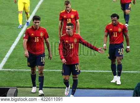 Kyiv, Ukraine - October 13, 2020: Spanish Players Go From The Pitch After The Uefa Nations League Ga