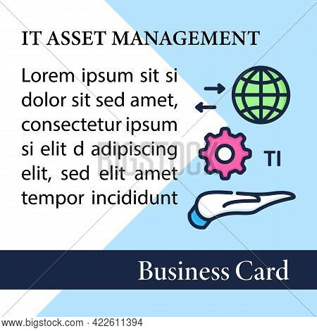 It Asset Management Square Business Card.decision Making For It Environment Marketing Template.finan