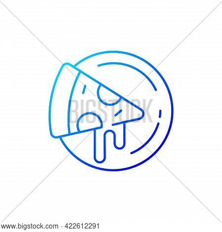 Pizza Plates Gradient Linear Vector Icon. Big Round Wooden Plate For Serving Food. Specially Designe