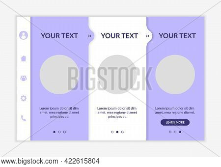 Health-related Content Onboarding Vector Template. Responsive Mobile Website With Icons. Web Page Wa