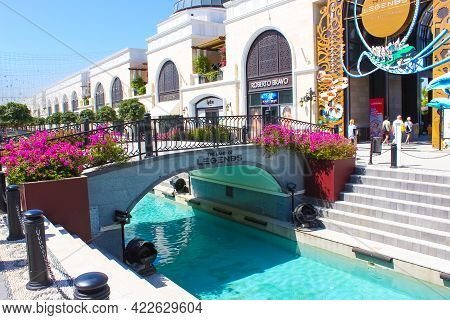 Turkey, Belek - May 15, 2021: The Shopping Area At Hotel Land Of Legends And Theme Park