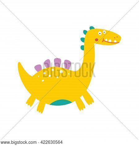 Cute Dinosaur Drawn As Vector For Kids Fashion