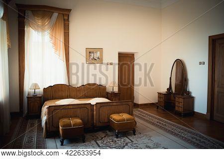 Koreiz, Crimea - July 10. 2019. Yusupov Palace - Museum Ensemble Palace, Historic Rooms Interiors On