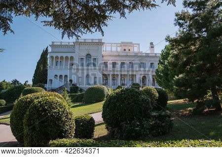 Livadia Palace In Yalta, Crimea. Location Of The Historic Yalta Conference At The End Of World War I