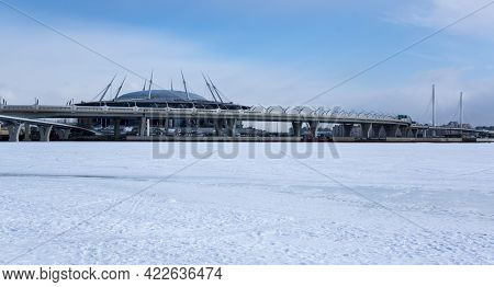 Panoramic View Of Saint-petersburg And The Finnish Gulf, Russia