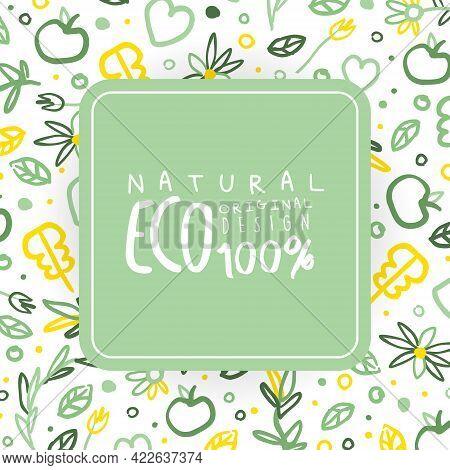 Eco Natural Original Design Banner, Healthy Vegetarian Food, Eco Store, Farm Market, Eco Friendly Ba