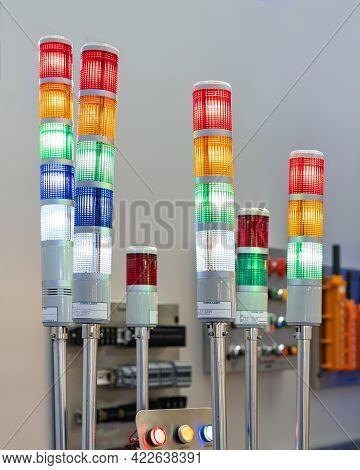 Electric Led Tower Lamp Signal Light For Indicate Status Operate Work Or Error Of Machine Or Product